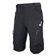 ARSUXEO Bike/Cycling Shorts / Baggy shorts / Bottoms Men's Breathable / Quick Dry / Waterproof Zipper Spandex / Polyester Solid BlackM /