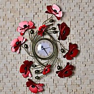 Metal Wall Art Wall Decor,love Flower Wall Clock Wall Decor