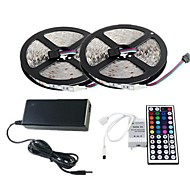 ZDM™ 2×5M RGB LED Strip Light 300 3528 SMD and 44Key Remote Controller and 6A EU AU US Power Supply (AC110-240V)