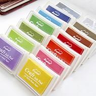 12 Farben Stempelkissen für Papier Handwerk Stoff Fingerabdruck Scrapbook Malerei Hochzeit Kinder Geburtstags-Gastgeschenke (weitere Farben)