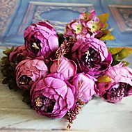 8 Head High Grade European Style Core Peony Simulation Flower