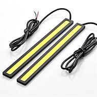 2pcs HRY® 14cm 600-700LM Daytime Running Light White/Blue Color Light COB DRL Waterproof Daylight(12V)