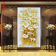 DIY 5D diamond Painting crystal lily flower Cross Stitch Decorative Needlework diamond mosaic 100*50cm