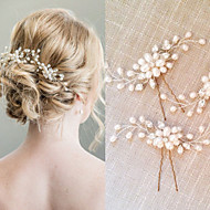 פנינה קריסטל כיסוי ראש-חתונה אירוע מיוחד מסרקי שיער Stick השיער 2 חלקים