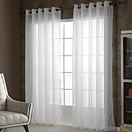 To paneler Window Treatment Rustikk Moderne , Solid Stue Polyester Materiale Gardiner Skygge Hjem Dekor For Vindu