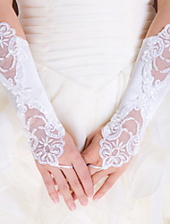 Elbow Length Fingerless Glove Elastic Satin Bridal Gloves Party/ Evening Gloves Spring Summer Fall