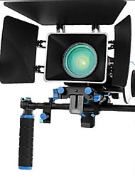 Rig Movie Kit With Follow Focus + Shoulder Mount Holder + Mattebox Camera Rig For Dslr Cameras