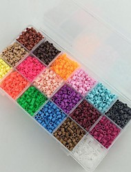 Approx 18*300PCS 18 Mixed Color 5MM Perler Beads Fuse Beads Hama Beads EVA Material Safty for Kids(Set B)