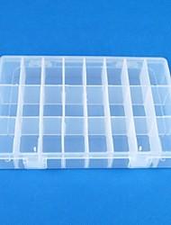 24 Transparent plastics Jewelry  Display Storage Pack Box(1PC)