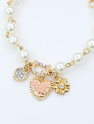 XIXI Women's The Newest Fashion Casual Gold Plated/Rhinestone Chain Bracelet/Imitation Pearl Statement Christmas Gifts