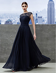 f9e1fa71f551 TS Couture Επίσημο Βραδινό Μαύρο γκαλά Φόρεμα - Κομψό Γραμμή Α Μπατώ Μακρύ  Ζορζέτα με Που