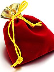 10pcs 10x12cm G olden Top Velvet Drawstring Jewelry Gift Bag Pouch