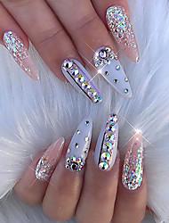Mixed Size Glitter AB Acrylic Rhinestones  Nail Art Decorations