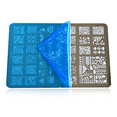 1pcs New 2016 DIY Beauty Image Nail Stencils Nail Art Stamping Plates Fashion Designs Polish Templates DIY Tools HK05