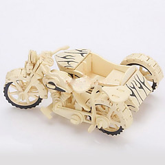 Jigsaw Puzzles 3D Puzzles / Wooden Puzzles Building Blocks DIY Toys Motorcycle Wood Beige Model & Building Toy