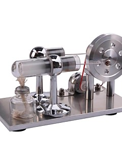 NEJE Discovery Toys LED Light Hot Air Stirling Engine Motor Model Educational Toy Gift For Kid