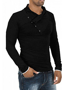 5c6cc41d0d32 Ανδρικά Καθημερινό   Γραφείο   Επίσημο   Αθλητικό Βαμβάκι   Ελαστικό Απλό  Μακρυμάνικο T-shirt