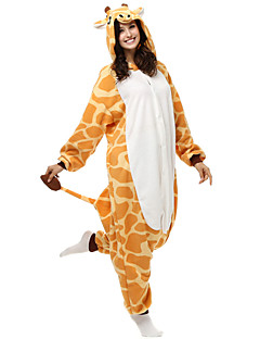 Kigurumi Pajamas Giraffe Leotard/Onesie Festival/Holiday Animal Sleepwear Halloween Yellow Patchwork Polar Fleece Kigurumi For Unisex