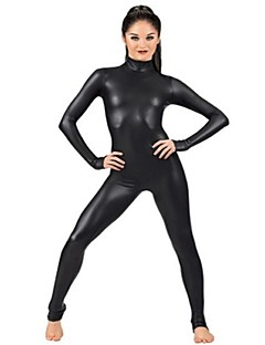 Unisex Zentai Suits Spandex / Shiny Metallic Black Zentai