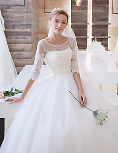 Cheap wedding dresses online wedding dresses for 2018 ball gown wedding dress floral lace sweep brush train scoop satin tulle with appliques junglespirit Gallery
