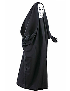 Spirited Away No Face Male Cosplay Costumes With Mask Angel/Devil Movie Cosplay Coat Mask Halloween Christmas New Year Male Cotton PVC