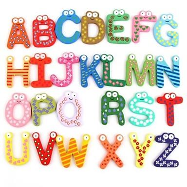 Kjempebra 3d vegg klistremerker, den engelske alfabetet kjøleskapsmagneter IQ-97