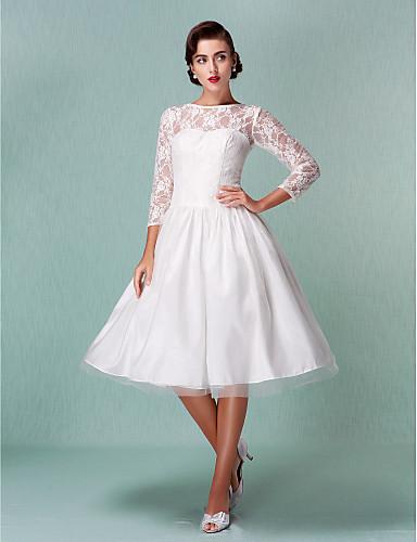 40415d4003 Lanting Bride® A-vonalú Alacsony / Extra méretek Menyasszonyi ruha ...
